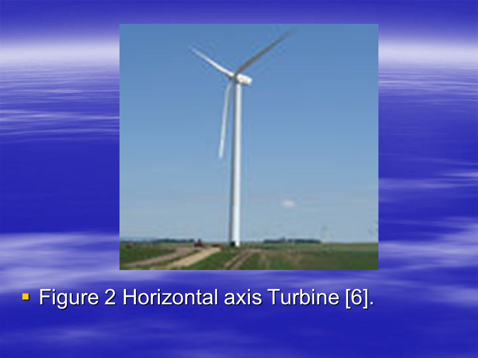 Figure 2 Horizontal axis Turbine [6].